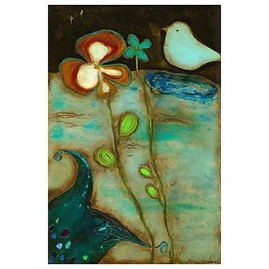 Triptyque jardin auprès de la mer 2 de Hempel, toile, 24 x 36 po