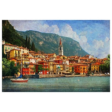 Lake Como Village Italy by Vest, Canvas, 24