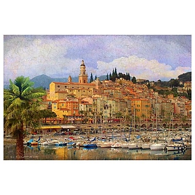 À la marina de Monaco de Vest, toile, 24 x 36 po