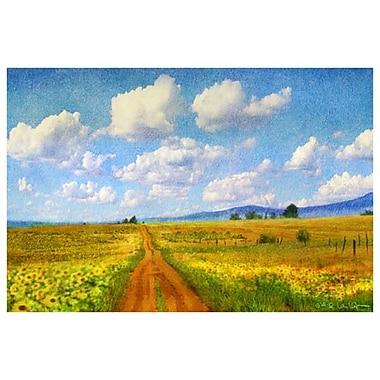 Route vers le ciel de Vest, toile, 24 x 36 po