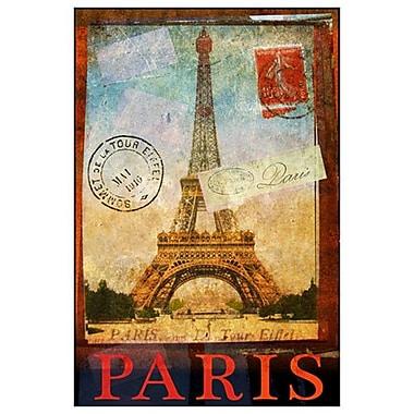 Tour Eiffel et Trocadéro de Vest, toile, 24 x 36 po