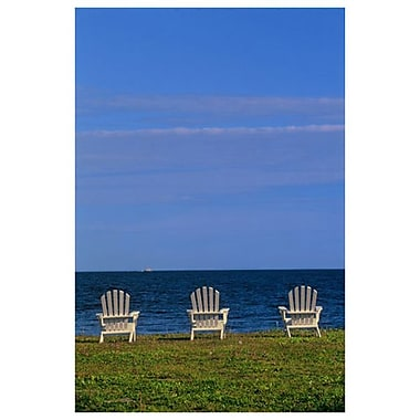 Chairs by Ocean 1 by Grandmaison, Canvas, 24