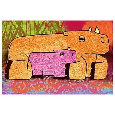 Rhinocéros de Keenan, toile de 24 x 36 po