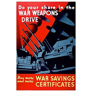Buy War Savings Certificates, toile de 24 x 36 po