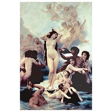 The Birth of Venus by Bouguereau, Canvas, 24