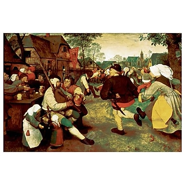 Peasant Dance by Brueghel, Canvas, 24