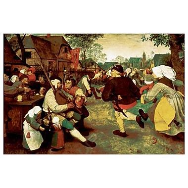 La danse du paysan par Brueghel, toile, 24 x 36 po