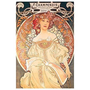 F. Champenois by Mucha, Canvas, 24