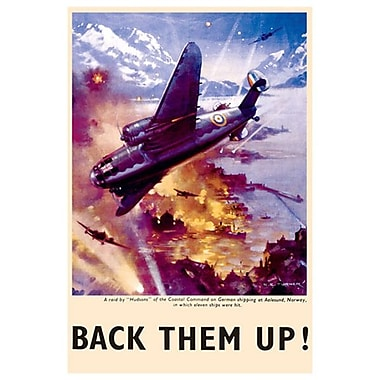 Back them up! Raid sur navires de guerre, toile, 24 x 36 po