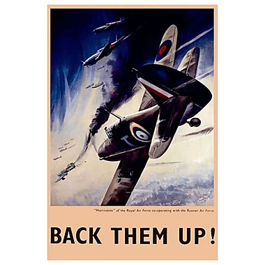 Back them up! RAF et Force aérienne russe, toile tendue, 24 x 36 po