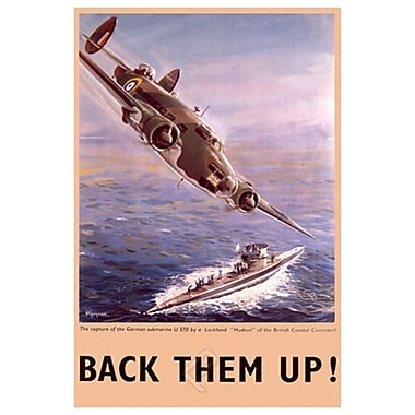Back Them Up Capture Submarine, Stretched Canvas, 24