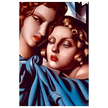 Girls Blue Blanket by Lempicka, Canvas, 24