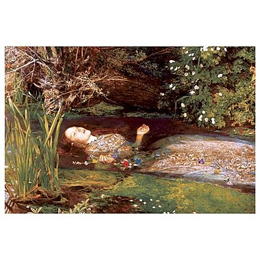 Ophelia by Millais, Canvas, 24