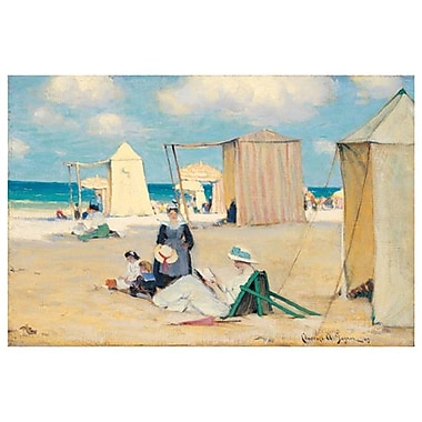 Beach at Dinard by Gagnon, Canvas, 24