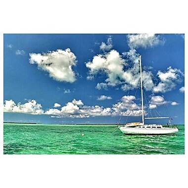 Naviguer à Crooked Island de Ringlever, toile, 24 x 36 po