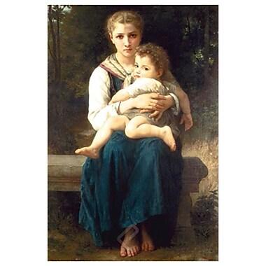 Les deux sœurs de Bouguereau, toile, 24 x 36 po