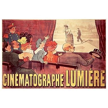 Cinématographe Lumière, toile, 24 x 36 po