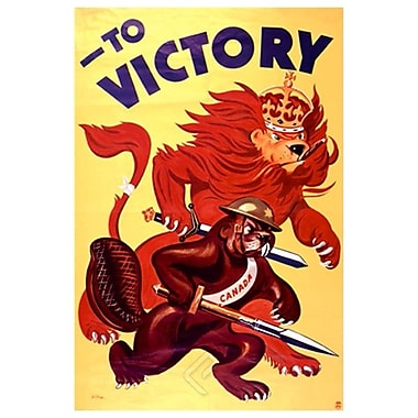War Bonds to Victory, Stretched Canvas, 24