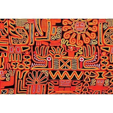 Inca Design Pattern, Stretched Canvas, 24