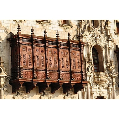 Colonial Palace in Lima, Stretched Canvas, 24