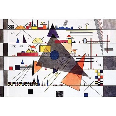 Horizontale par Kandinsky, toile, 24 x 36 po