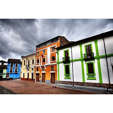 Colorful Buildings in City by Nalbandian, Canvas, 24