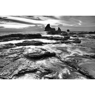 Black and White Coastal Rocks by Nalbandian, Canvas, 24