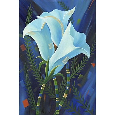 White Flowers by Keenan, Canvas, 24