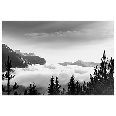 Over the Clouds- Banff Park, Stretched Canvas, 24