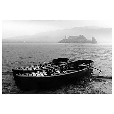Île de San Giulio dans la brume, toile tendue, 24 x 36 po