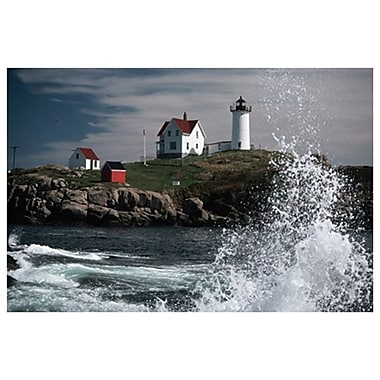 Lighthouse and Water Splash, Stretched Canvas, 24