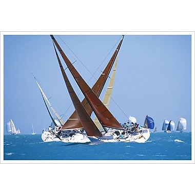 Sailboat Race, Stretched Canvas, 24
