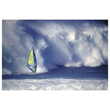 Windsurfer in High Waves, Stretched Canvas, 24