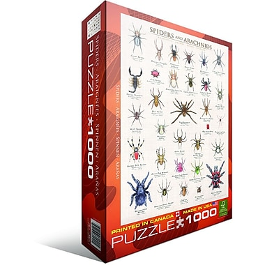 Casse-tête d'araignées et d'arachnides, 1000 pièces