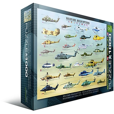 Military Helicopters Puzzle, 1000 Pieces