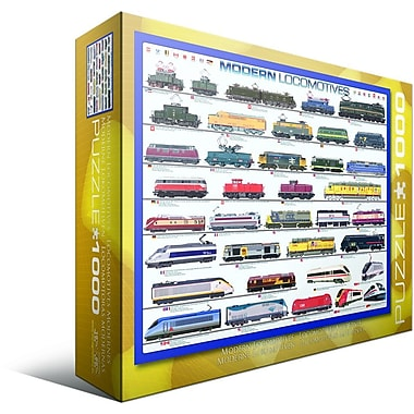 Modern Locomotives Puzzle, 1000 Pieces