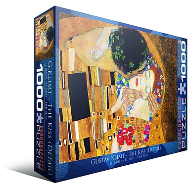 The Kiss (Detail) by Gustav Klimt Puzzle, 1000 Pieces