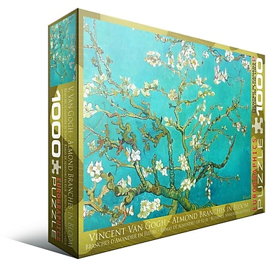Almond Branches by Vincent Van Gogh Puzzle, 1000 Pieces
