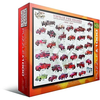 Vintage Fire Engines Puzzle, 1000 Pieces