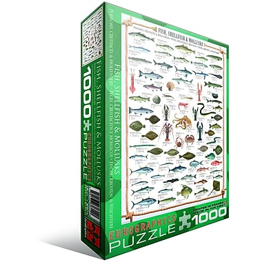 Fish Shellfish Mollusks Puzzle, 1000 Pieces