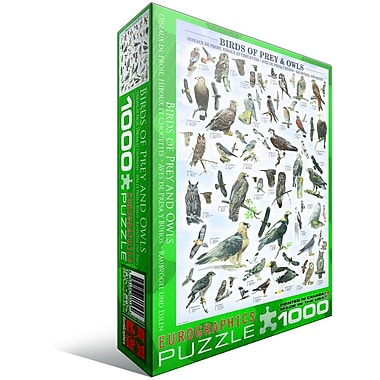 Birds of Prey and Owls Puzzle, 1000 Pieces