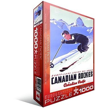 CP Rail Lake Louise Ski Area Puzzle, 1000 Pieces