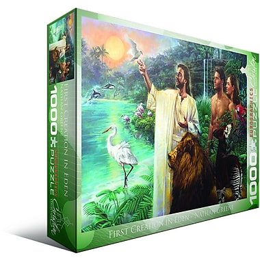 Christian Collection – Casse-tête Première création du jardin d'Éden par Nathan Greene, 1000 morceaux
