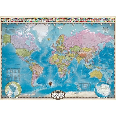 Casse-tête de carte du monde avec données, 1000 pièces