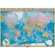 Map of the World Puzzle with Data, 1000 Pieces