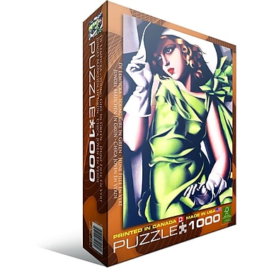 Young Girl in Green by Tamara de Lempicka Puzzle, 1000 Pieces