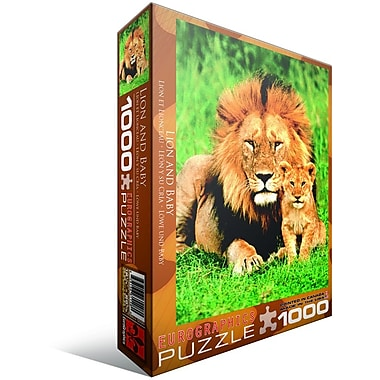 Lion and Baby Puzzle, 1000 Pieces