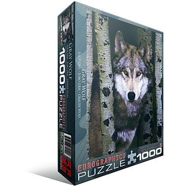 Loup gris, casse-tête de 1000 morceaux