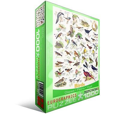 Oiseaux des champs et jardins, casse-tête de 1000 morceaux