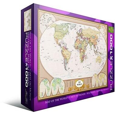 Casse-tête Carte du monde, 1000 morceaux